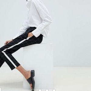 ASOS grid check side stripe pants